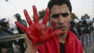 Im Süden des Landes, in Basra, demonstrieren Iraker gegen türkische Truppen im Norden