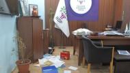 Nach der Razzia: Das verwüstete Büro der prokurdischen Partei HDP in Istanbul