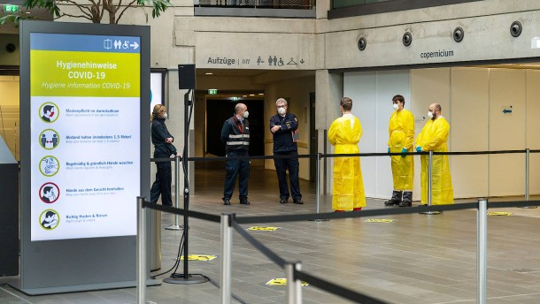 Kongresszentrum Darmstadtium bereit für Corona-Impfungen