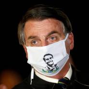 Die Maske trägt er widerwillig und nur selten: Brasiliens Präsident Jair Bolsonaro