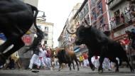 Stierrennen in Pamplona gehen weiter