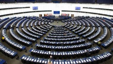 Blick in den Plenarsaal des Europäischen Parlaments in Straßburg