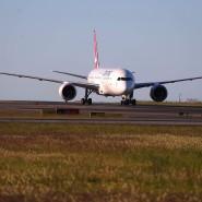 Qantas Boeing 787 Dreamliner landet in Sydney