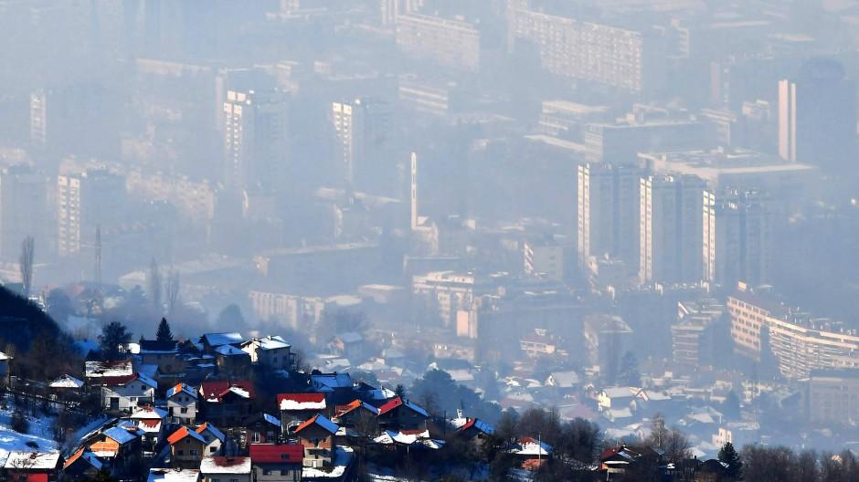 Dicke Luft: Am 14. Januar schaffte es Sarajevo in den Top fünf der Städte mit der schmutzigsten Luft der Welt auf Platz eins.