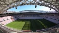 Alles im Blick: Die Kameras im Stadion sind unauffällig verteilt und so geschickt angebracht, dass jeder Winkel eingesehen werden kann.