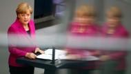 Angela Merkel am Mittwoch im Bundestag