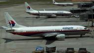 Maschinen der Malaysia Airlines auf dem Flughafen von Kuala Lumpur