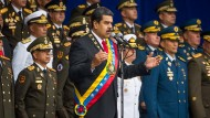 Nicolas Maduro kurz vor dem versuchten Attentat auf ihn.
