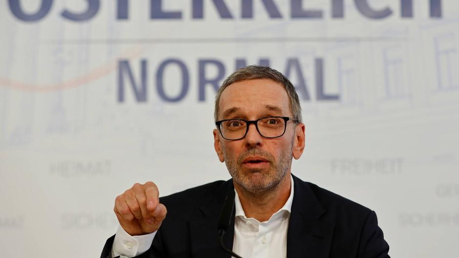 FPÖ-Chef Herbert Kickl bei einer Pressekonferenz in Wien am 9. September