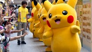 Echtes Plüsch: Pokemon-Figuren in einem japanischen Einkaufszentrum.