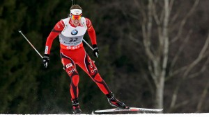 Svendsen of Norway competes in the men's 10 km sprint during the International Biathlon Union World Championships in Nove Mesto