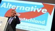 Jörg Meuthen, einer der Bundesvorsitzenden der AfD und Spitzenkandidat für die Wahl in Baden-Württemberg