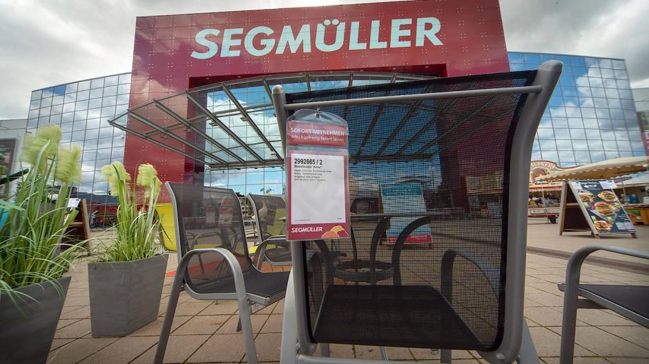 Alles muss raus: die Outdoor-Abteilung von Segmüller