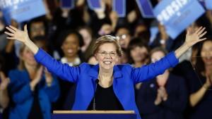 Elizabeth Warren will Donald Trump aus dem Weißen Haus verdrängen