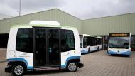 Premiere im Linienbetrieb: autonom fahrender Bus in Monheim