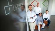 Banker wurden Gründer: Robin Buschmann, Sascha Wolf, Daniel Conradt und Viktor Kraus (v.l.n.r.) von Giromatch
