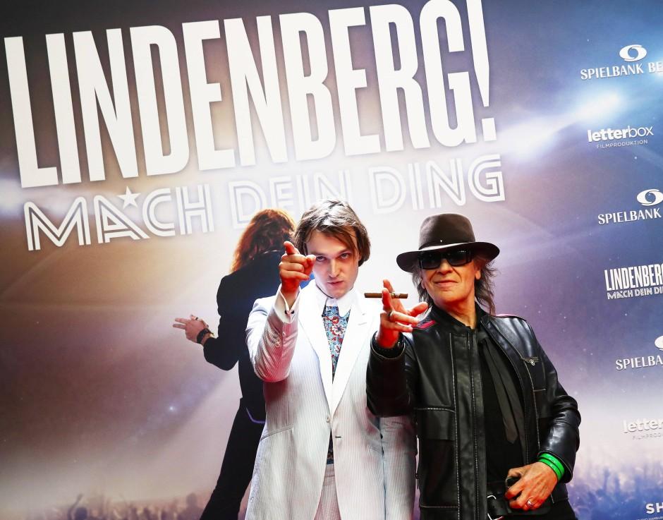 Jan Bülow und Udo Lindenberg bei der Premiere in Hamburg