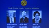 Medizin-Nobelpreis für Malaria- und Parasiten-Forscher