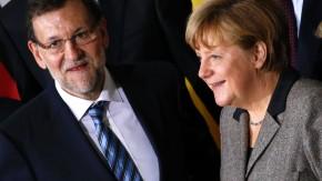 Rajoy und Angela Merkel