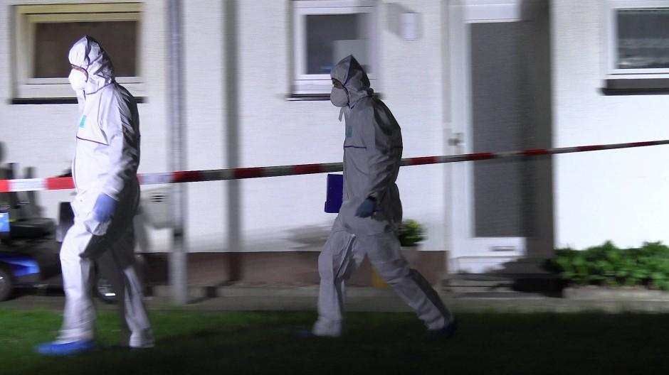Beamte am Tatort in Bad Essen
