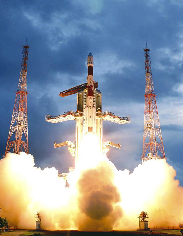 Die indische Mondsonde Chandrayaan-1 wurde am 22. Oktober 2008 vom Satish Dhawan Space Centre in Sriharikota aus gestartet.