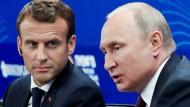 Signale der Entspannung? Emmanuel Macron und Wladimir Putin