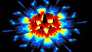 O du fröhliche: Elektronen treiben es bunt im Computermodell einer Oberfläche des topologischen Isolators Bismutantimonid.