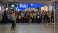 Chaos am Frankfurter Flughafen