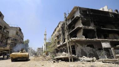 Regierungstreue Truppen erobern in Syrien Städte von den Rebellen zurück.