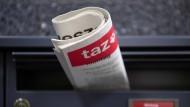 """In der Redaktion der """"taz"""" sind zahlreiche Telefonate und E-Mails mit bedrohlichem Inhalt eingegangen."""