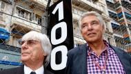 Leitmotiv: Bis 100 macht Ecclestone weiter, kommt dann Brabeck-Letmathe (r.)?