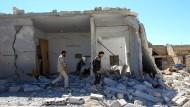 Trümmer der Stadt Chan Scheichun nach dem Luftangriff in der syrischen Provinz Idlib