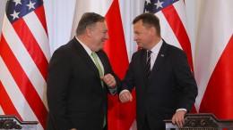Pompeo zu Gesprächen in Polen angekommen