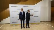 Kurssuche: Commerzbankchef Martin Zielke (links) und Aufsichtsratschef Stefan Schmittmann