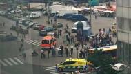 Die Innenstadt von Turku am Freitag kurz nach dem Attentat.