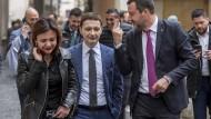 Luca Morisi und Matteo Salvini 2019 in Rom