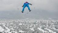 Im Anflug auf Garmisch-Partenkirchen: Richard Freitag