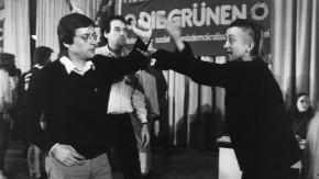 Die Grünen Parteitage - Auseinandersetzung zw. Walde und 'Indianer' Reschke auf d. Bundesparteitag in Karlsruhe