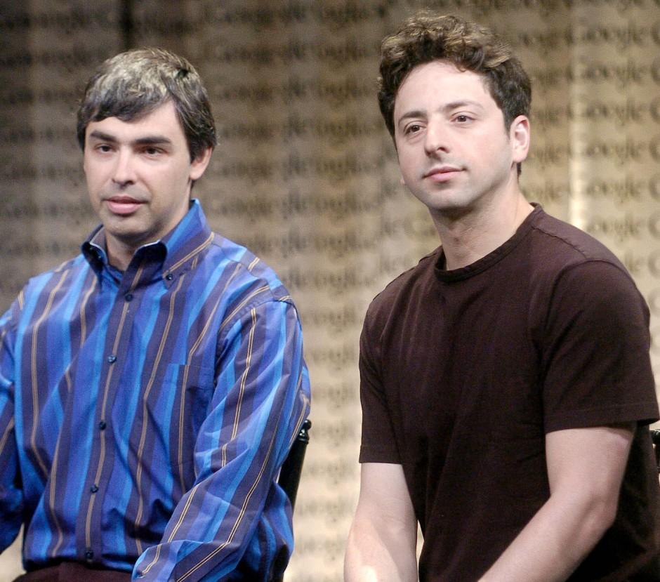 Larry Page und Sergey Brin (v.l.) im Jahr 2006