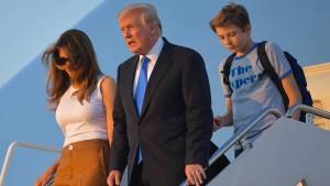 First Lady und Sohn ziehen ins Weiße Haus