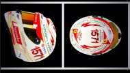Die Insignien eines vermeitnlich großen Piloten: Fernando Alonso hat seinen Helm mit der Punktzahl 1571 getwittert