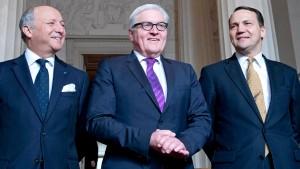 Steinmeier sieht keinen Weg der Ukraine in die Nato