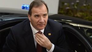 Ministerpräsident Löfven kapituliert