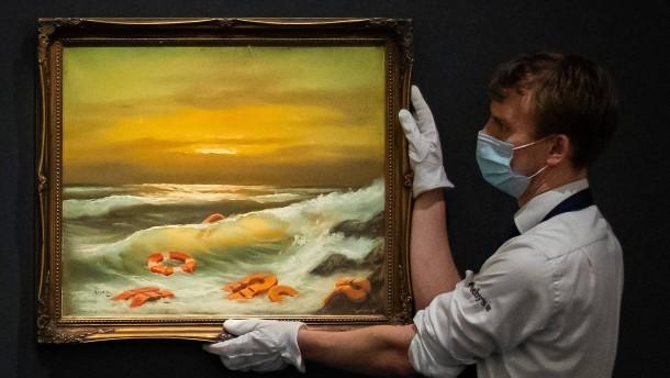Banksy-Werk für 2,4 Millionen Euro in London versteigert
