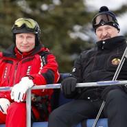 Nachbarn: Wladimir Putin (links) und Alexander Lukaschenka