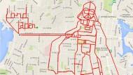 Star Wars über Victoria: Stephen Lund und seine GPS-Kunst