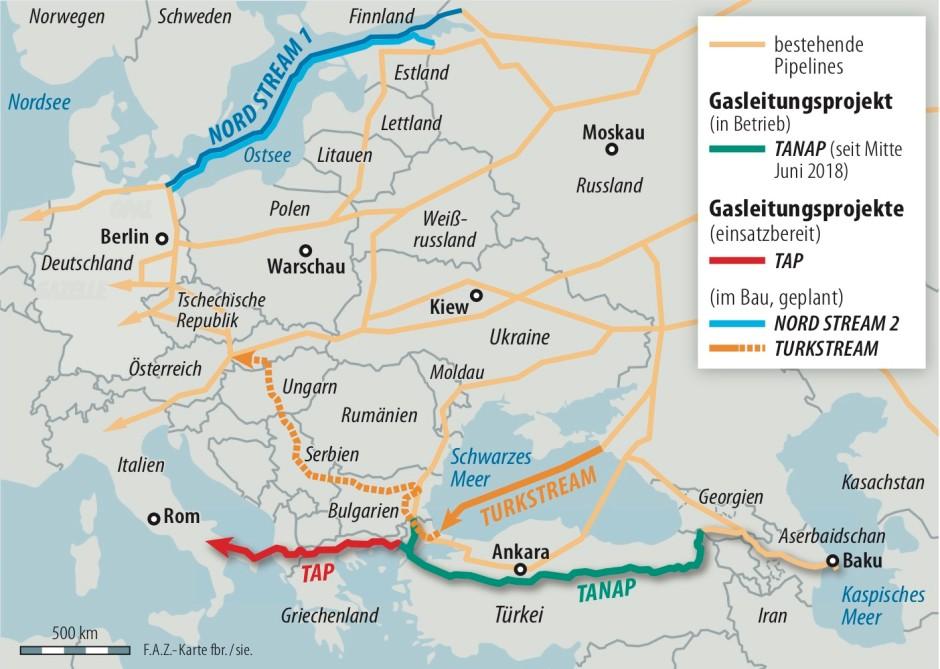 Wie Gas Aus Aserbaidschan Nach Europa Kommt