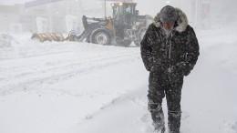 Blizzard legt Ortschaften lahm
