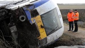 Triebwagen rast in Rinderherde