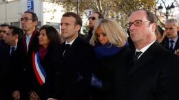 Macron und Hollande gemeinsam bei Bataclan-Gedenken